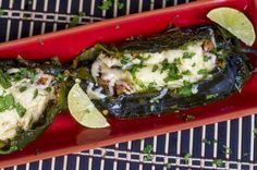 Turkey and Cheddar Stuffed Poblano Peppers from Chili Pepper Madness