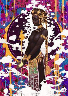 art-of-cg-girls:  BLACK by casimir0304