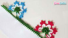 5 Tepecik Modeli Tığ Oyası Yapılışı Videolu Anlatımlı #elişi #örgü #moda Crochet Edging Patterns, Diy And Crafts, Brooch, Jewelry, Youtube, Towels, Embellishments, Craft, Hand Embroidery
