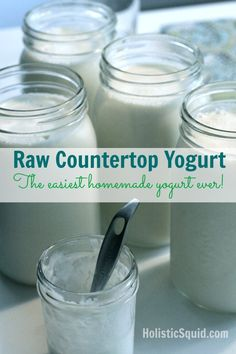 Raw Countertop Yogurt – The Easiest Homemade Yogurt Ever (and my first video!)
