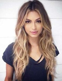 Shaggy Blonde Waves Hairstyles for Long Thin Hair