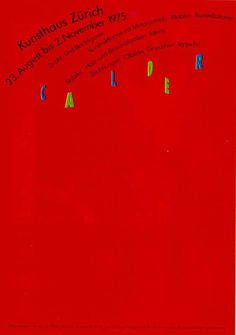 Paul Bruhwiler (designer), Calder, 1975.