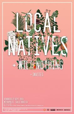 Graphics / Local Natives poster