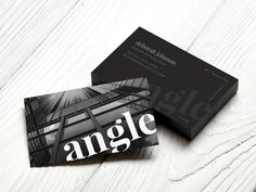 Business card design showing off our black edge cards for Angle.