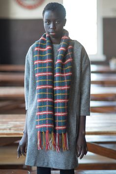 inverness by ellie sokolow / quince & co osprey in slate, poppy, iceland, and honey