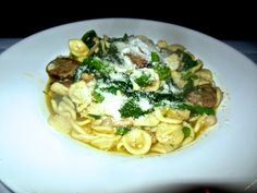 Di Sopra, Caldwell, NJ: Orechiette with broccoli rabe, Italian sausage and cannellini beans. Photo courtesy of Lowell Safersteinhttp://njmonthly.com/articles/eat-drink/table-hopping-with-rosie/at-home-upstairs-at-di-sopra/