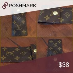 """Handmade Upcycled Louis Vuitton Monogram Pouch Handmade Upcycled Louis Vuitton Monogram Pouch. This pouch measures 2 1/2"""" x 6"""". The inside pocket is 5 1/2"""" & features a brass snap closure and is sewn and edged for durability. Half the proceeds are donated to organizations helping Rez dogs on South Dakota American Indian Reservations. Items posted on Poshmark are deeply discounted. NOTE: All designs are handcrafted with authentic yet salvaged materials & may contain artistic imperfections or…"""
