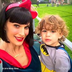 Molly Sims and Brooks Stuber did a costume change in time for trick-or-treating.