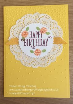 Paper Daisy Crafting: Who loves a Stampin' Up! Simple Birthday Cards, Homemade Birthday Cards, Birthday Cards For Women, Bday Cards, Happy Birthday Cards, Homemade Cards, Birthday Gifts, Making Greeting Cards, Greeting Cards Handmade