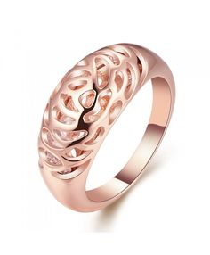 Best Rose Gold Plated Ring with High Quality Nickle Free Antiallergic New Fashion Jewelry
