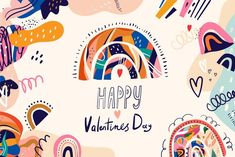 Homemade Valentines, Valentines For Kids, Happy Valentines Day, Abstract Shapes, Abstract Pattern, Abstract Art, Logo Design Trends, Freelance Illustrator, Adobe Illustrator