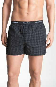 Calvin Klein 'Matrix' Slim Fit Woven Boxers (Online Only) available at #Nordstrom