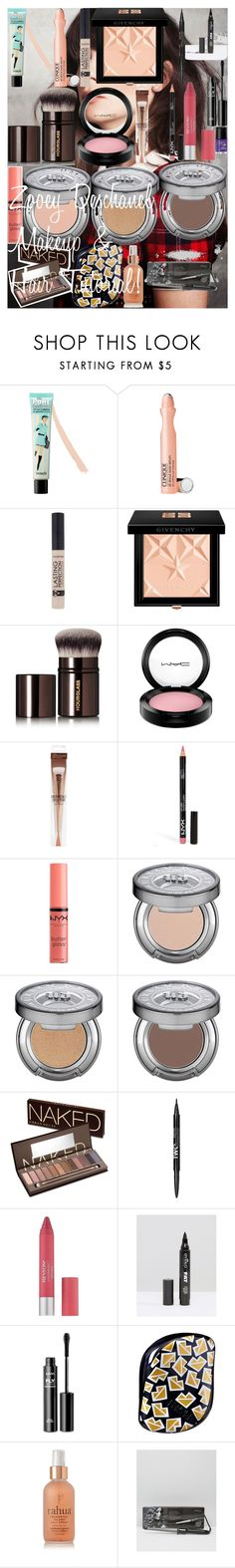 """""""Zooey Deschanel Makeup & Hair Tutorial!"""" by oroartye-1 on Polyvore featuring beauty, Zooey, Benefit, Clinique, Givenchy, Hourglass Cosmetics, MAC Cosmetics, Zad, NYX and Urban Decay"""