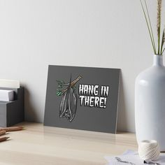 """""""Hang in there"""" Art Board Print by ninthstreet   Redbubble Watercolor Paper, Art Boards, Nerdy, Cool Designs, Dots, Tapestry, Awesome, Stitches, Hanging Tapestry"""