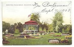 Crapo-Park-Floral-Display-Burlington-Iowa-Unposted-Vintage-Postcard