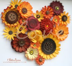 "Autumn ""love"" Flower Shadow Box Tutorial"