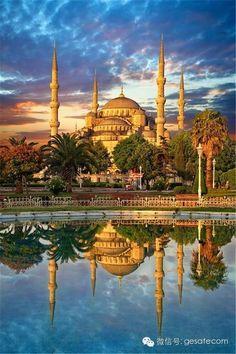 Sultanahmet Camisinde gün batımı