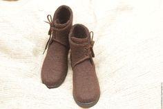 Обувь ручной работы. Ярмарка Мастеров - ручная работа. Купить Ботинки  демисезонные валяные женские. f17ec0b3ffc