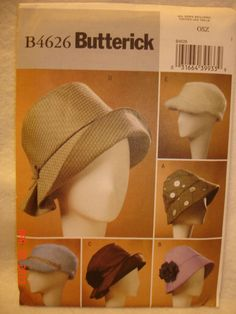 f9d424fa55df3 butterick hat patterns