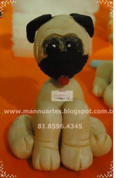 Pug de Biscuit - Loja de mannuartes