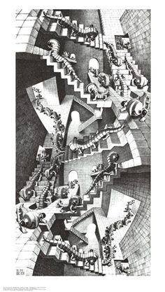 I love mc escher art. Op Art, Art Prints, Escher Art, Stair Art, Escher Museum, Graphic Artist, Dutch Artists, Art, Illusion Art