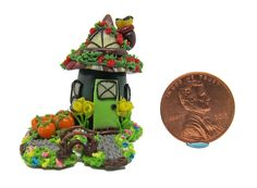 Dollhouse Miniature Tiny Forest House with Garden 1 375 High Small Figurines, Miniature Figurines, Forest House, Dollhouse Miniatures, Home And Garden, Christmas Ornaments, Toys, Holiday Decor, Artist