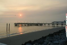 """St. Simons Pier Sunset"" by Dee Ely"