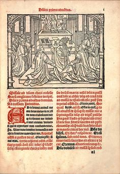 Mass of St Gregory from the a missal of Sarum Use printed by Wynken de Worde in1498.
