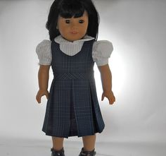 18 inch doll clothes School Uniform White Blouse von thesewingshed