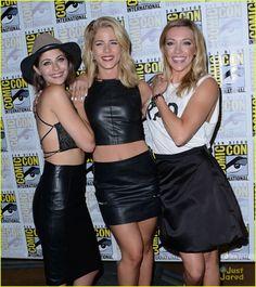 Willa Holland, Emily Bett Rickards and Katie Cassidy at #Arrow Comic-Con 2015