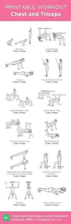 Chest and Triceps: my custom printable workout by @WorkoutLabs #workoutlabs #customworkout by jeannine by jeannine