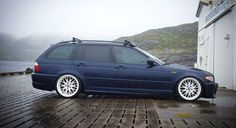 BMW E46 Touring blue on Rondell wheels