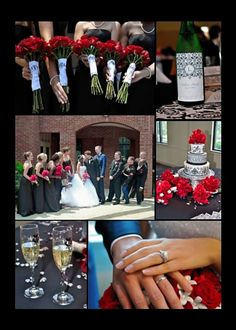 Ideas for Black and White Damask Wedding with Accents of Red (Zayn-Lea 6/11/11)
