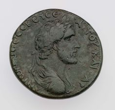 Coin of Neapolis with bust of Antoninus Pius. Roman Provincial, Imperial Period, A.D. 138-161