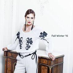 Valentina Vidrascu Folk Fashion, Embroidery Fashion, Country Living, Editorial Fashion, Folk Art, Ethnic, Addiction, Ruffle Blouse, Traditional