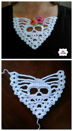 Crochet Skull T-shirt Panel Free Crochet Pattern Crochet Skull Patterns, Halloween Crochet Patterns, Crochet Motifs, Filet Crochet Charts, Crochet Stitches, Crochet Hooks, Free Crochet, Knit Crochet, Crochet Blanket Patterns