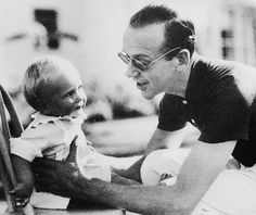 Fred Astaire with his son, Fred Jr. Hollywood Cinema, Vintage Hollywood, Classic Hollywood, A Fine Romance, Fred And Ginger, Musical Film, Classic Actresses, Classic Movies, Old Movie Stars