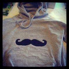 Mustache hoodie. (:
