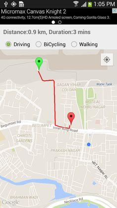 GPS Route Finder: captura de tela