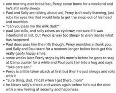 I just really want all the Dads of the demigods to just come in a plane during their quest and just be a dad. Also I want Leo to just find out about Paul Blofis and freak out about it. Percy Jackson Head Canon, Percy Jackson Memes, Percy Jackson Books, Percy Jackson Fandom, Rick Riordan Series, Rick Riordan Books, Percy And Annabeth, Annabeth Chase, Solangelo