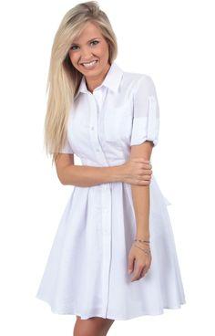 Navy Seersucker - The Taylor Seersucker Dress Back