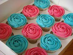 Rose cupcakes.