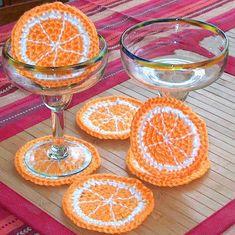 Orangen-Untersetzer