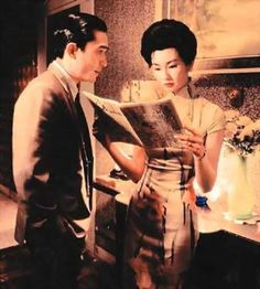 Maggie Cheung & Tony Leung, In the Mood for Love. You can take any still from this movie and it looks like an editorial shoot.