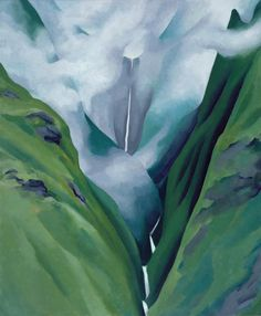 Waterfall — No. III — Iao Valley - Georgia O'Keeffe 1939 American painter Georgia O'keeffe, Alfred Stieglitz, Kandinsky, New Mexico, Wisconsin, Georgia O Keeffe Paintings, Johannes Vermeer, New York Art, Ansel Adams