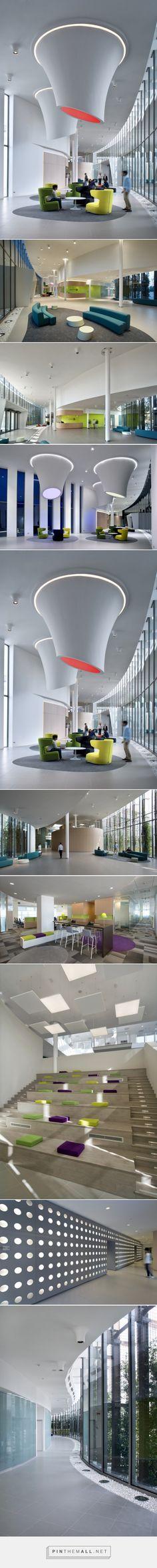 Alcatel-Lucent - Milano Headquarters - Office Snapshots - created on Interior Ceiling Design, Arch Interior, Office Interior Design, Office Interiors, Interior Architecture, Atrium Design, Hall Design, Commercial Design, Commercial Interiors