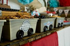 DIY ideas for vintage train/locomotive birthday party for child