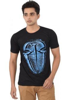 adbf67b9b03 Big Online t shirt shopping of WWE Printed Men s Round Neck Black T-Shirt at