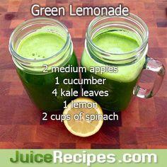 Green Lemonade Juice Recipe–healthy and delicious green juice! Green Lemonade Juice Recipe–healthy and delicious green juice! Related Posts Green Lemonade :: Bottoms Up! Juice Cleanse Recipes, Green Juice Recipes, Healthy Juice Recipes, Juicer Recipes, Healthy Detox, Healthy Juices, Detox Recipes, Healthy Smoothies, Healthy Drinks