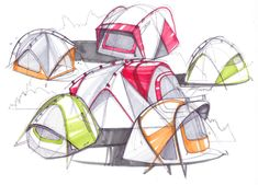 sketch a day 197 tents